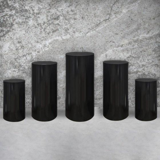 Black Plinth (Set of 5)