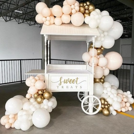 prop hire candy cart