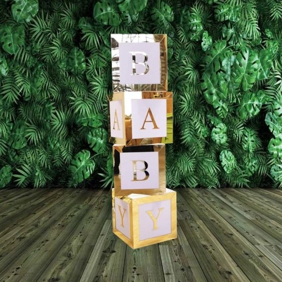 Gold Baby Letter Box