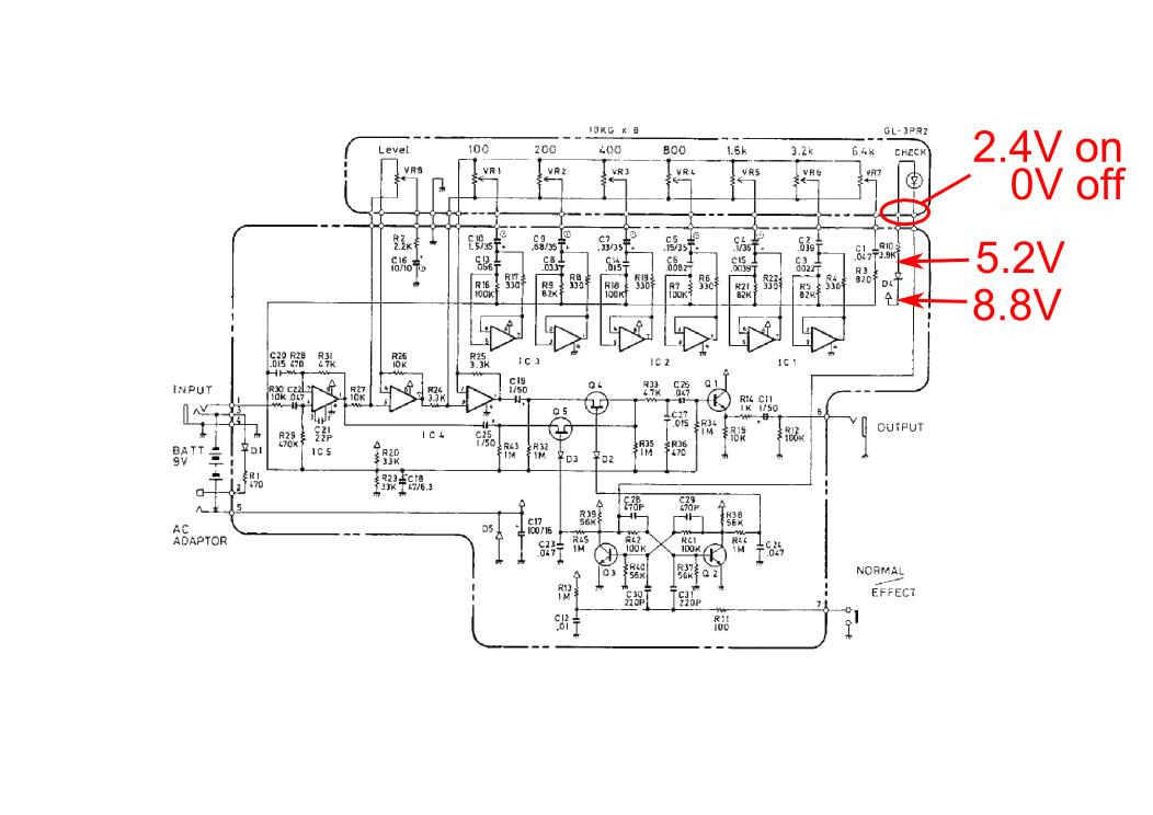 Boss GE-7 EQ repair
