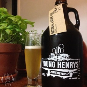 Young Henrys Natural Lager Growler