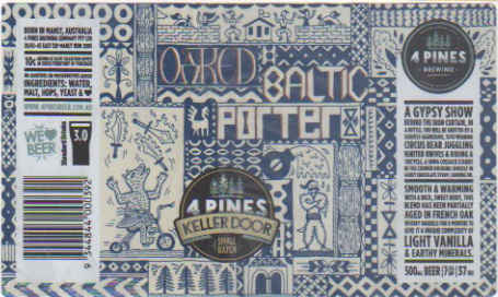 4 Pines Oaked Baltic Porter label