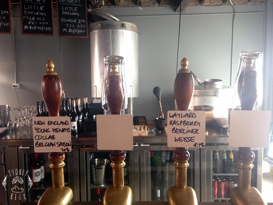 Staves Brewery Bar tap handles