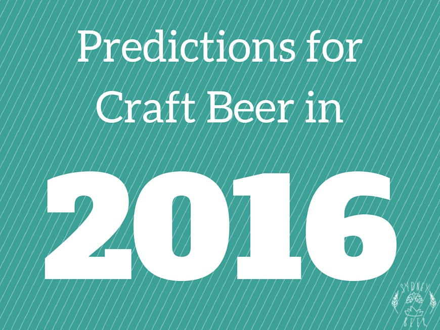 Predictions for Craft Beer in 2016