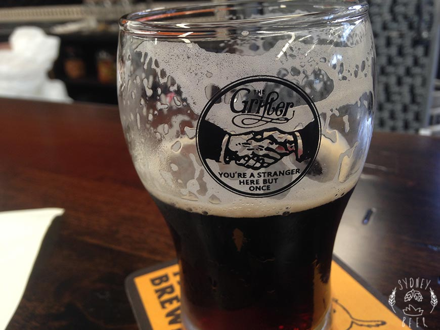 The Grifter Brewing Co glass