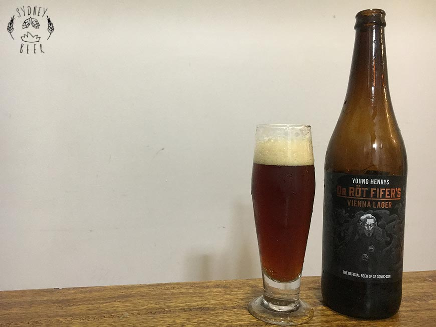 Young Henrys Dr Rot Fifer's vienna lager