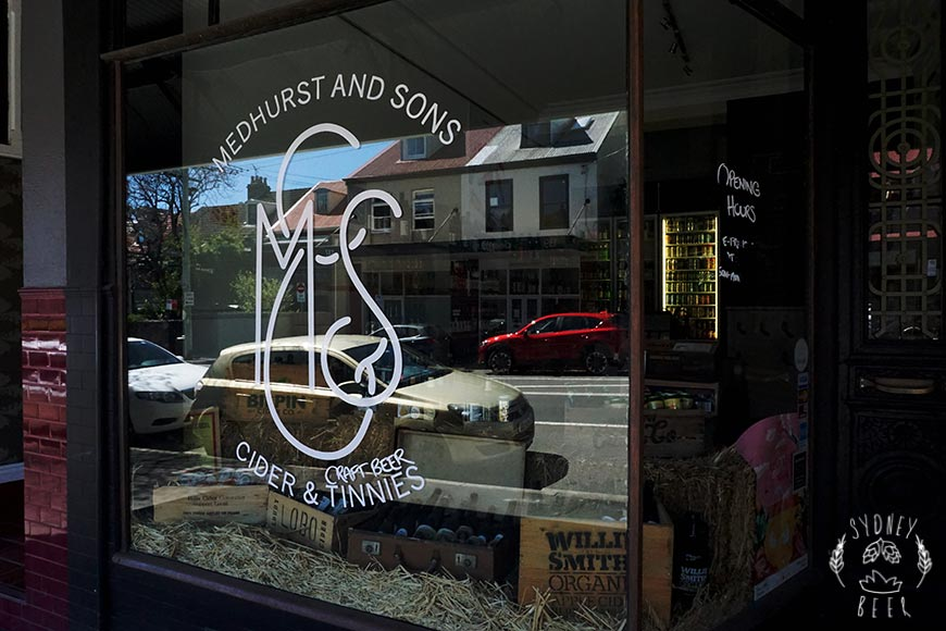 Medhurst & Sons heritage shop front in Glebe