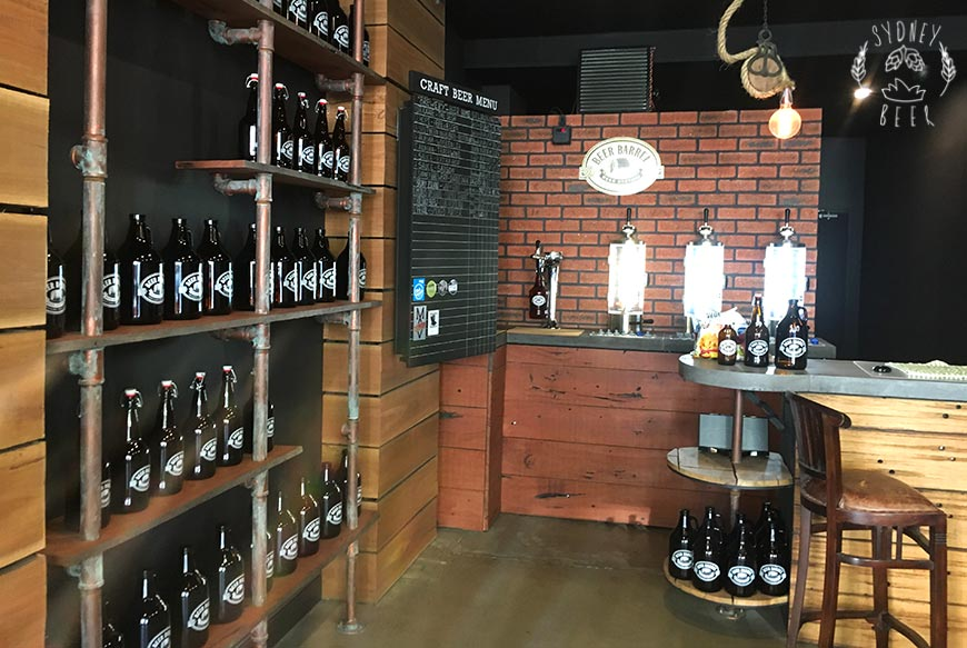 Beer Barrel Growler Station Chippendale