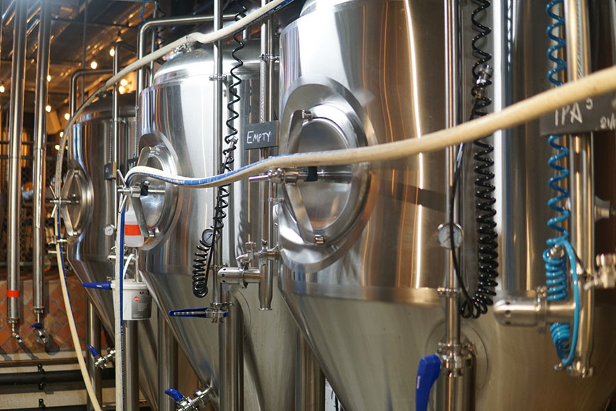 All Hands Brewing House fermenters