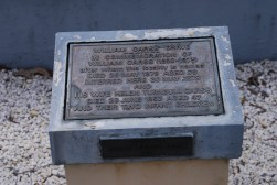 Plaque at William Carss vault.