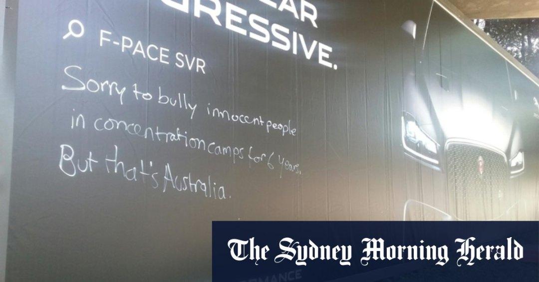 'That's Australia' Retired nurse fined over message scrawled on billboard