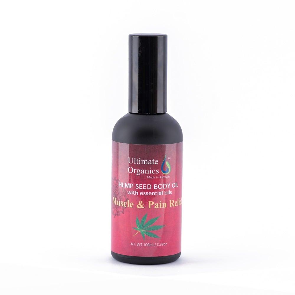 有機大麻籽肌肉酸痛按摩精油 MUSCLE & PAIN RELIEF - Organic Hemp Seed Body Oil w Essential Oils | 健康保健 Health, 有機產品 ...