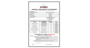 Annual Fire Safety Statements Sydney Extinguishers