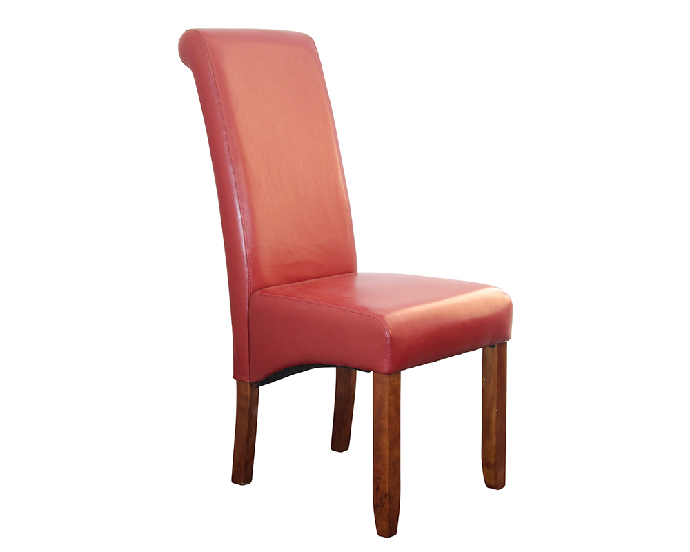 Red Upholstered Dining Chairs Avalon Upholstered Dining Chair In Red Leatherette Sydney