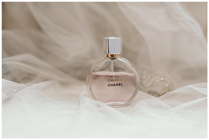 Chanel perfume on the wedding day