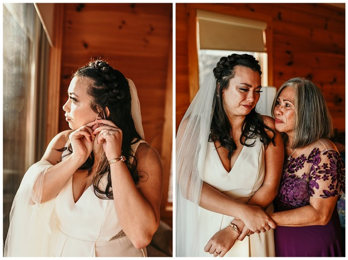 Mother and daughter Boone, NC wedding