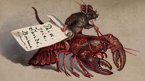 rat riding lobster