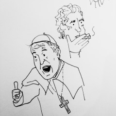 Pope Francis and Sir. Bourdain