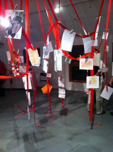 Exhibition View, Love Letters to Feminism 2012, Edmonton