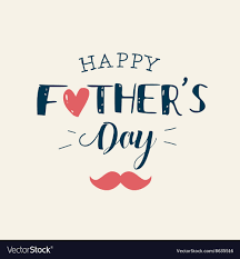 Fathers day card heart mustache Royalty Free Vector Image