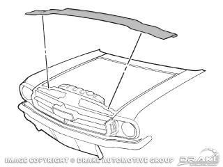 64-70 Radiator Support to Hood Seal » Sydney Mustang Parts