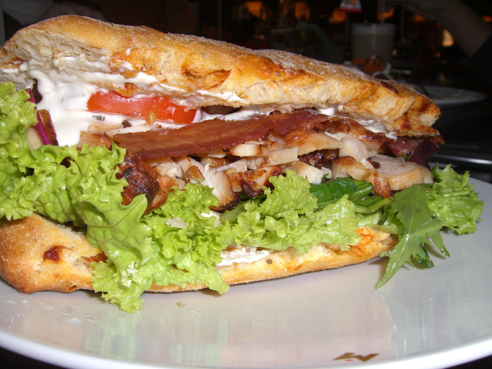 Chicken & bacon ciabatta roll
