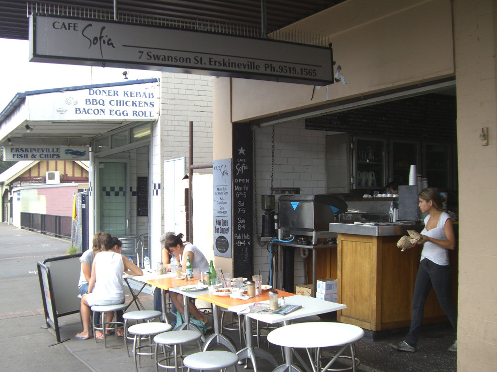 Cafe Sofia Erskineville  Rating 16525  Sydney on Sunday