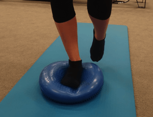 Ankle Exercise using Pilates Ball