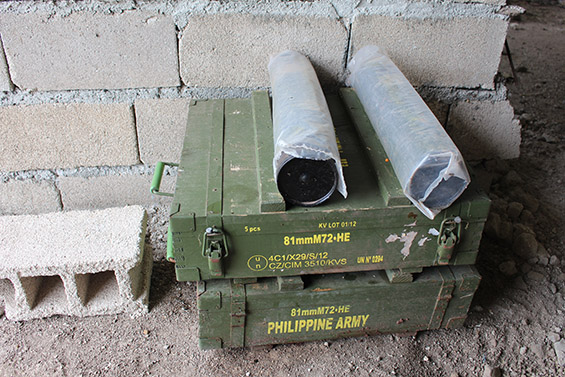 Serbian-made munitions wait to be used by gunners of the 18th Infantry Battalion