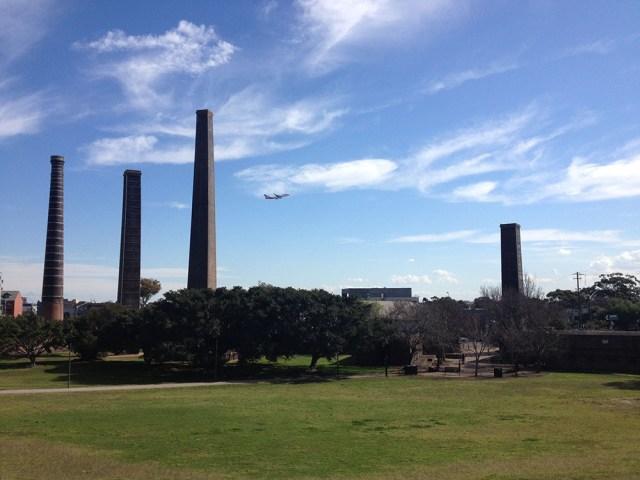 Brickworks chimneys, Sydney Park.