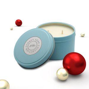 Christmas Candles Tiffany Blue