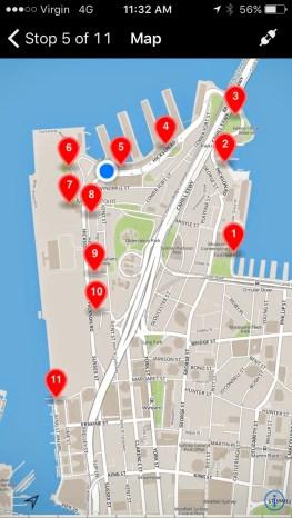 The Road To Barangaroo App Map