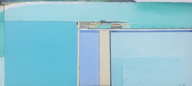 Dee Why rock pool after Diebenkorn