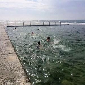 Laps at Mona Vale pool