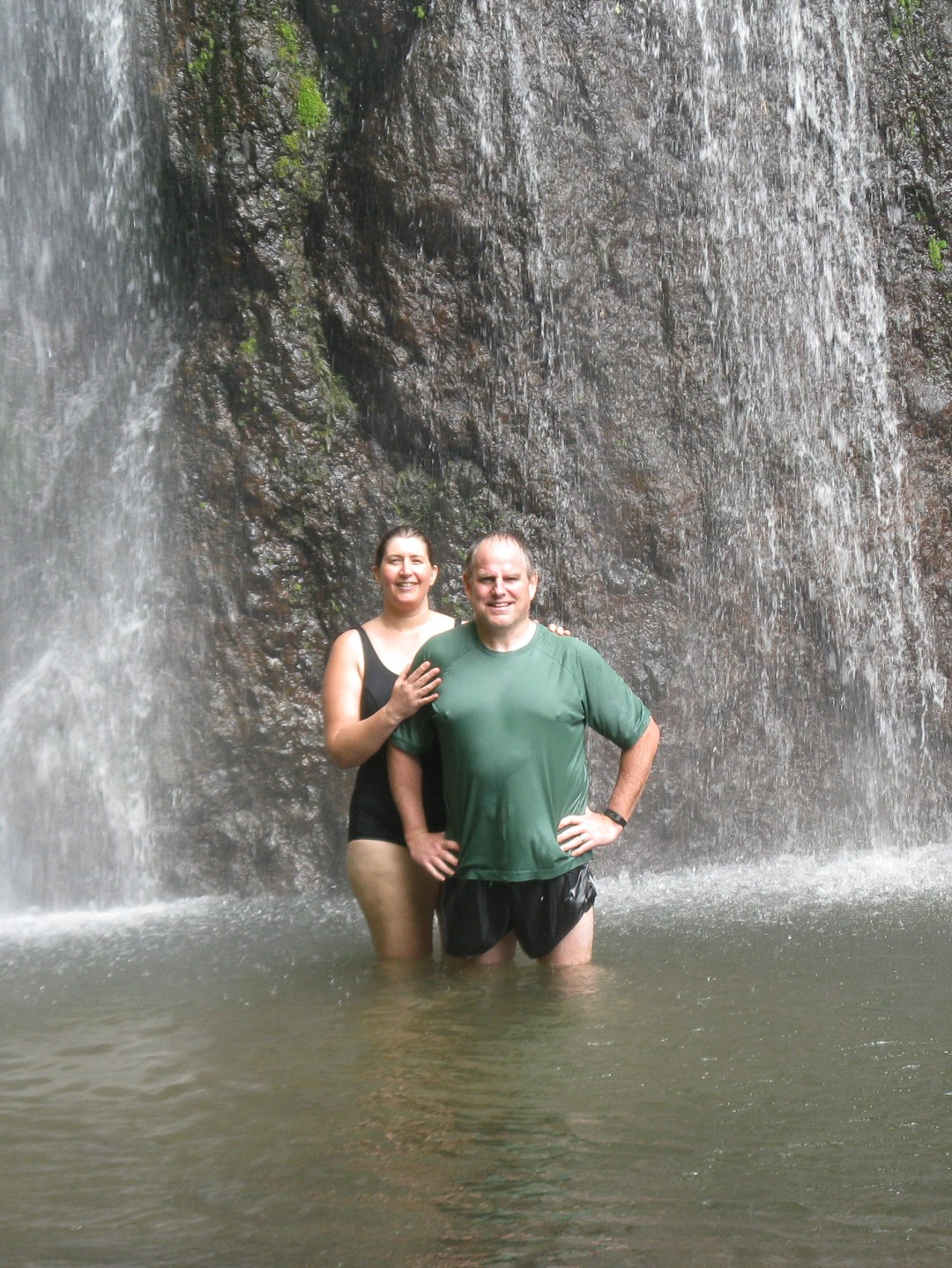 With Mark at the falls