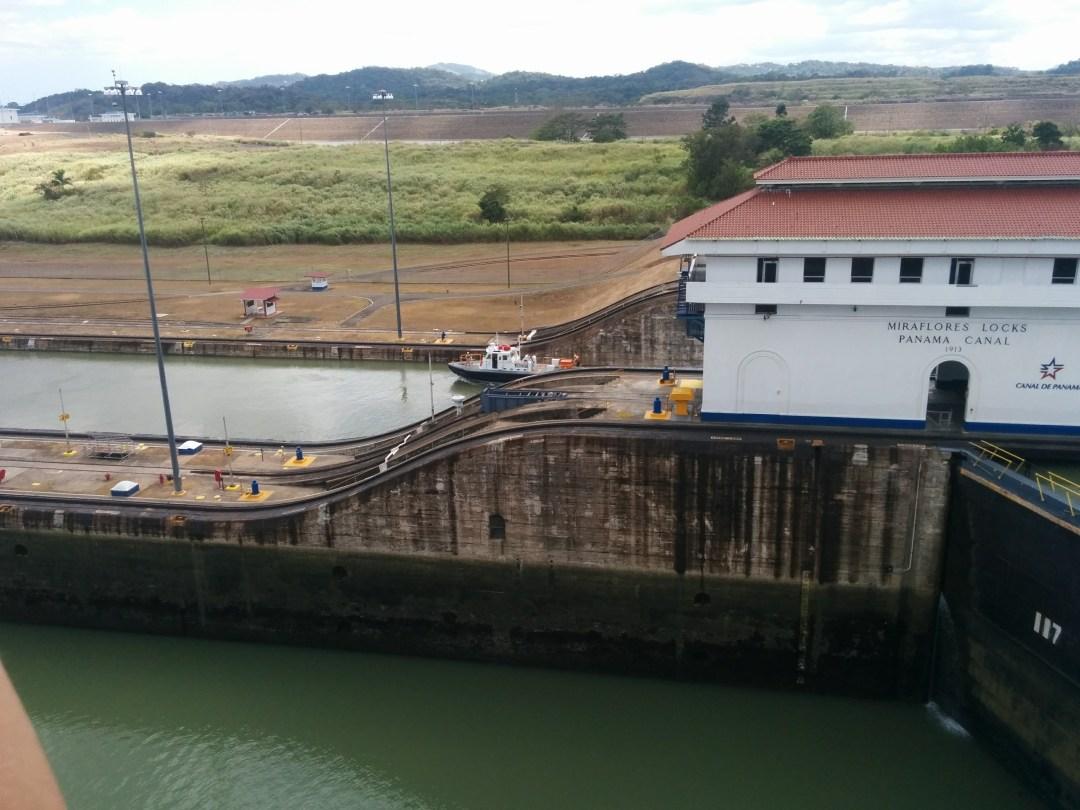 7) Small boats heading through locks
