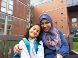 Cik Cery with Alisya..