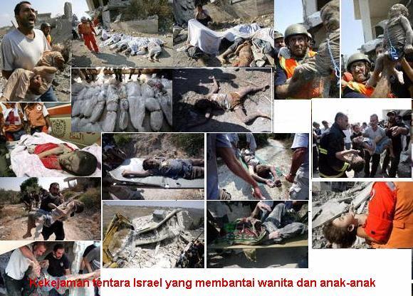 Kekejaman tentara Israel membantai wanita dan anak-anak