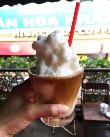Coconut Coffee at CộngCà Phê