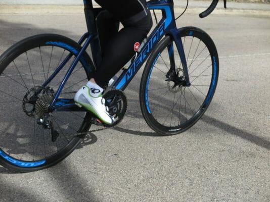 Test av 5 racersykler med skivebremser