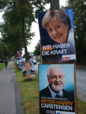 Slike valgplakater er strødd ut over hele Tyskland.