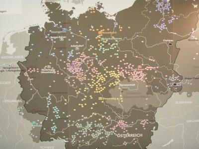 Alle konsentrasjonsleirene til Tyskland.