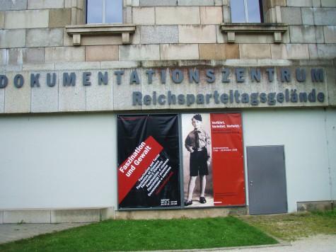 Senter for dokumentasjon var i den gamle kongresshallen i Nürnberg.