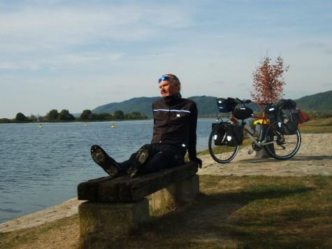 Slapper av i sola ved Donau!