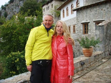 Flott med besøk av kjæresten Hanne, når man er på lang sykkeltur!