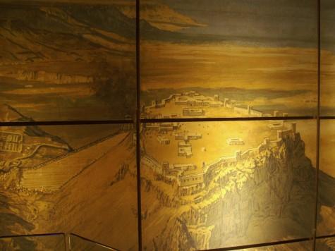Fotografi av toppen på Masada museeum!
