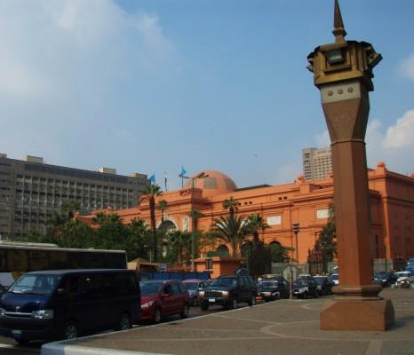 Kairo har tett trafikk hele tiden og mye luftforurensing!
