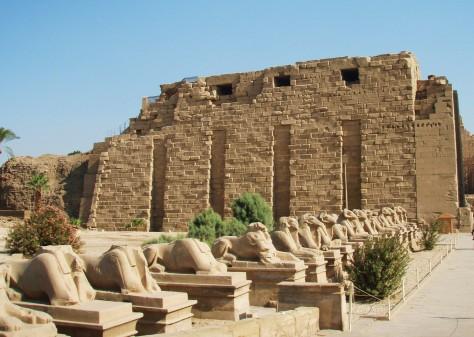 Ved Karnak-tempelet i Luxor!
