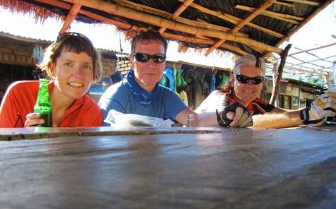 Stein gir seg i Lilongwe etter godt jobbing som hjelperytter!