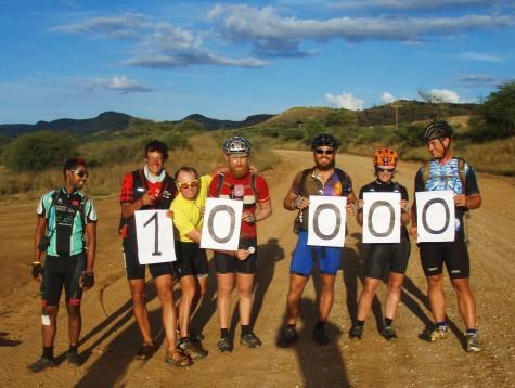 De med EFI – status passerte 10000 km. rett utenfor Windhoek!